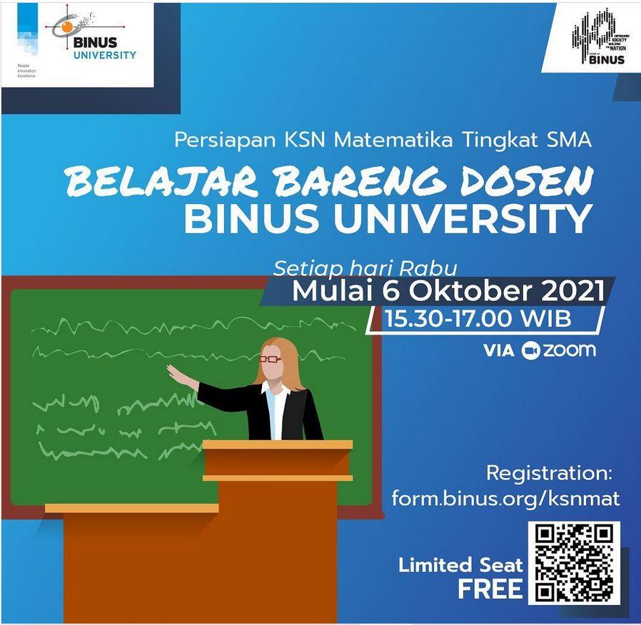 Belajar Bareng dosen BINUS University